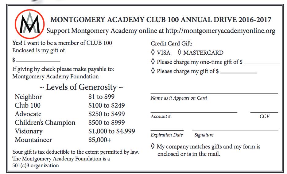 Support Montgomery Academy online at http://montgomeryacademyonline.org