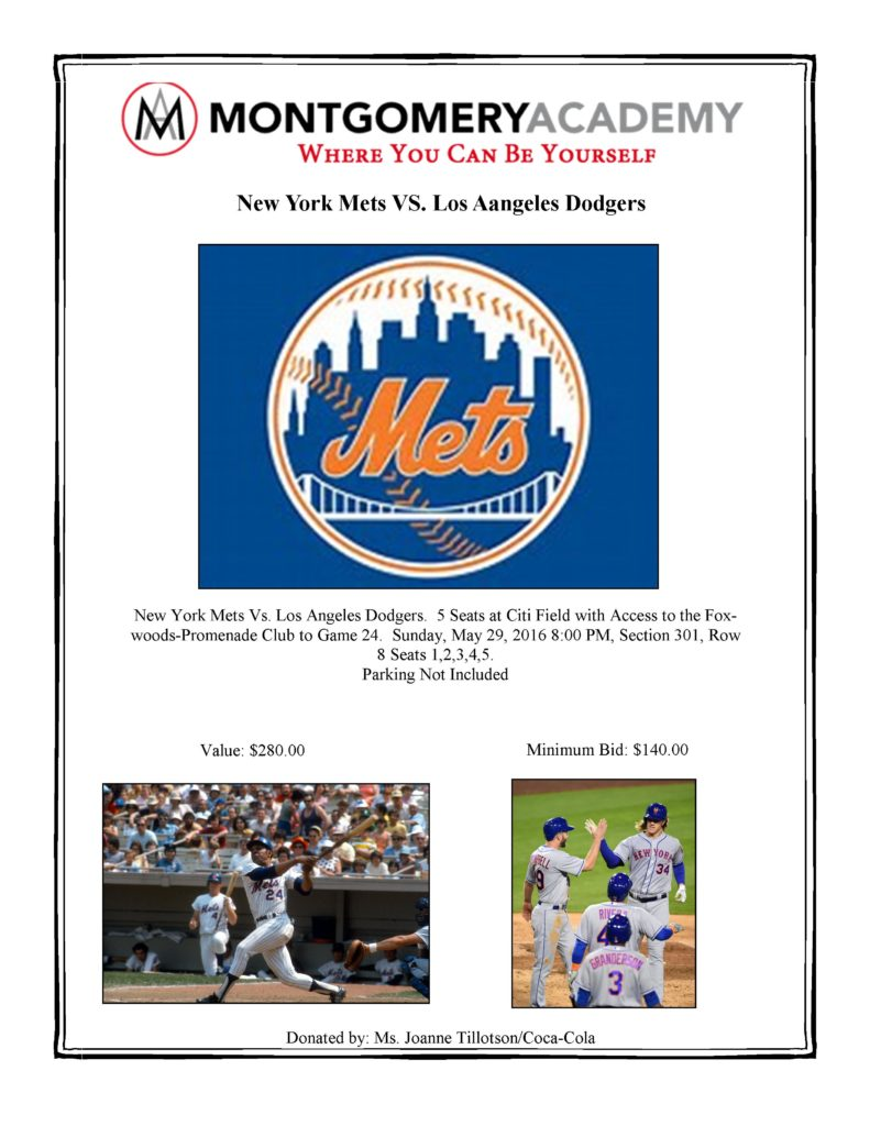 Bidding Picture Sheets 2016 Mets